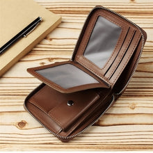 Load image into Gallery viewer, Wallet Men Short Wallets Brand Casual Zipper Coin Purse Male Card Holder Wallet