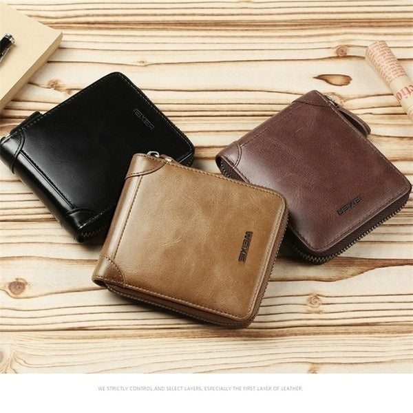 Wallet Men Short Wallets Brand Casual Zipper Coin Purse Male Card Holder Wallet