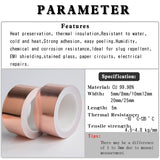 5 Meters Single Side Conductive Copper Foil Tape Strip Adhesive EMI Shielding Heat Resist Tape