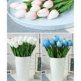 10pcs PU Artificial Tulip Flower Latex Real Touch Bouquet For Wedding Party Home Decor 15colors