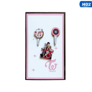 3Pcs/Set Twice Got7 Exo Seventeen Blackpink Acrylic Badge Brooches For Fans Souvenir Jewelry Gift