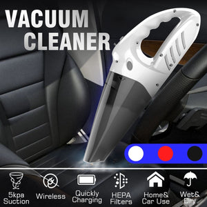 4 In 1 120W 2000MAH 5500pa Handheld Cordless Vacuum Cleaner Portable Rechargeable Wet Dry Dual-use Vacuum Cleaner for Home and Car Cleaning
