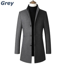 Load image into Gallery viewer, Spring&Autumn Jackets for Men  Windproof Jackets Trench Coat for Men Windbreaker Jacken Herren Veste Homme Business&Casual Jackets Middle Length Fleece Fabric