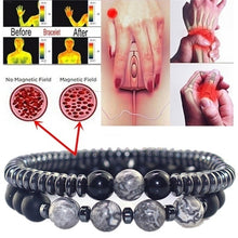 Load image into Gallery viewer, 2pcs/set Unisexs Fashion Arthritis Magnetic Therapy Bracelet Waterproof Swelling Magnetic Bracelet Rheumatism Hand Pain Relief Health Compression Treatment Bracelet
