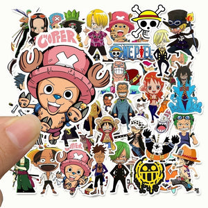 25/50pcs  One Piece ONE PIECE Cartoon Sticker Luffy graffiti Sticker Suitcase Skateboard Sticker