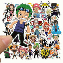 Load image into Gallery viewer, 25/50pcs  One Piece ONE PIECE Cartoon Sticker Luffy graffiti Sticker Suitcase Skateboard Sticker