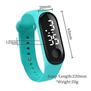 Hot Sale New Fashion 1PCS  LED Digital Watch Luxury White Light Touch Screen Silicone Strap Wristwatch Women Sports Yoga Bracelets Watches Kids Clocks Best Christmas Gift