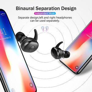 Bluetooth 5.0 Earphones Stereo Sound Handsfree TWS Wireless Bluetooth Headphone Sport Bass Earbuds Auto Pairing Headset With Mic