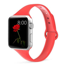 Load image into Gallery viewer, Silm Strap for Apple Watch 4 Band 44mm 40mm IWatch Band 38mm 42mm Sports Silicone Bracelet Watchband for Apple Watch 4/3/2/1