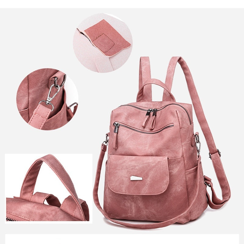 Women Leather Backpacks High Quality Female Backpack Travel Shoulder Bags School Backpacks for Girls