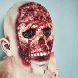 Halloween Zombie Latex Mask Horror Biochemical Zombie Devil Latex Head Set Haunted House Party Props