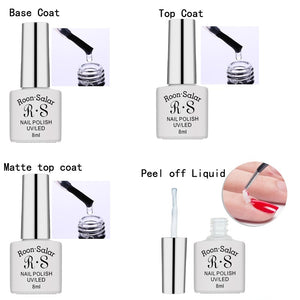 8ml Gel Nail Polish 83Colors Vernis Semi Permanent 1pcs UV Nail Polish Lasting Long Soak Off Gel Lucky Art Manicure
