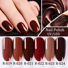Load image into Gallery viewer, 8ml Gel Nail Polish 83Colors Vernis Semi Permanent 1pcs UV Nail Polish Lasting Long Soak Off Gel Lucky Art Manicure