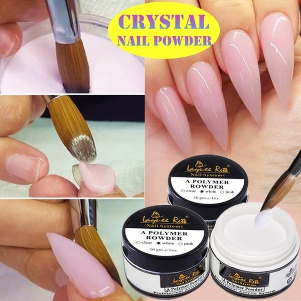 1pcs French Extended Crystal Nail Manicured Crystal Powder Three Colors Pink Transparent Optional