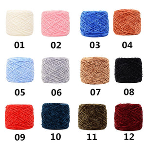 250g Gold Velvet Yarn Roving Scarf Knit Wool Yarn Thickness Warm Hat Household