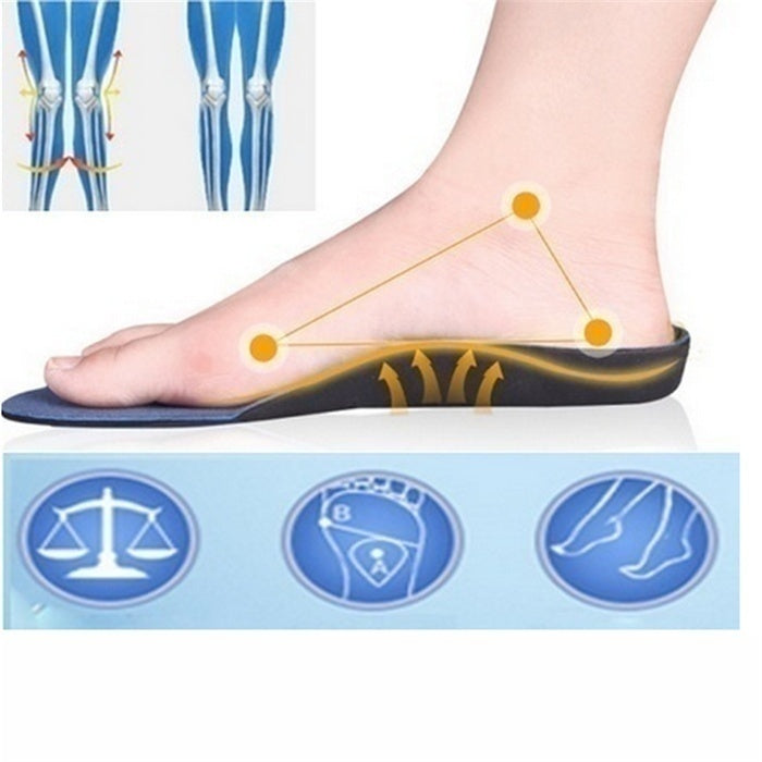 High Arch Supports Insoles for Flatfoot Cubitus Varus Orthopedic Feet Cushion Pads Care for Man Women (34-47cm)