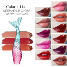 Load image into Gallery viewer, Textures Mermaid Lipgloss 20 Colors silk matte long-lasting liquid lipstick metal light dreamy lip gross