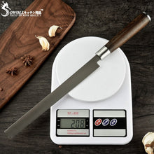 Load image into Gallery viewer, Sowoll Japanese Sushi Knife High Carbon Stainless Steel Salmon Knife 9' Extra Long Slicer Razor Sharp Sashimi Watermelon Knives