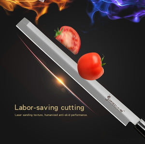 Sowoll Japanese Sushi Knife High Carbon Stainless Steel Salmon Knife 9' Extra Long Slicer Razor Sharp Sashimi Watermelon Knives