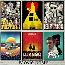 Load image into Gallery viewer, Classical Movie Abstract Poster Pulp Fiction/fight Club/kill Bill/Back To The Future/Django Unchained Kraft Art Wall Decoration