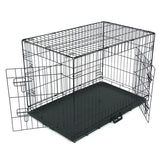 24'/30'/36'42' Pet Kennel Cat Dog Folding Steel Crate Animal Playpen Wire Metal
