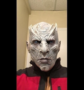 Night King Latex Mask Head Cover Ice and Fire Song Full Cover Props Yaoh Mask