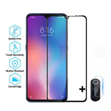 Load image into Gallery viewer, 9D Full Cover Protective Glass For Xiaomi Mi 9 Mi9 SE CC9 SE Screen Protector For Xaomi Mi9 SE Redmi 7A 7 Note 7 Pro 7 Front Tempered Glass + Back Camera Glass