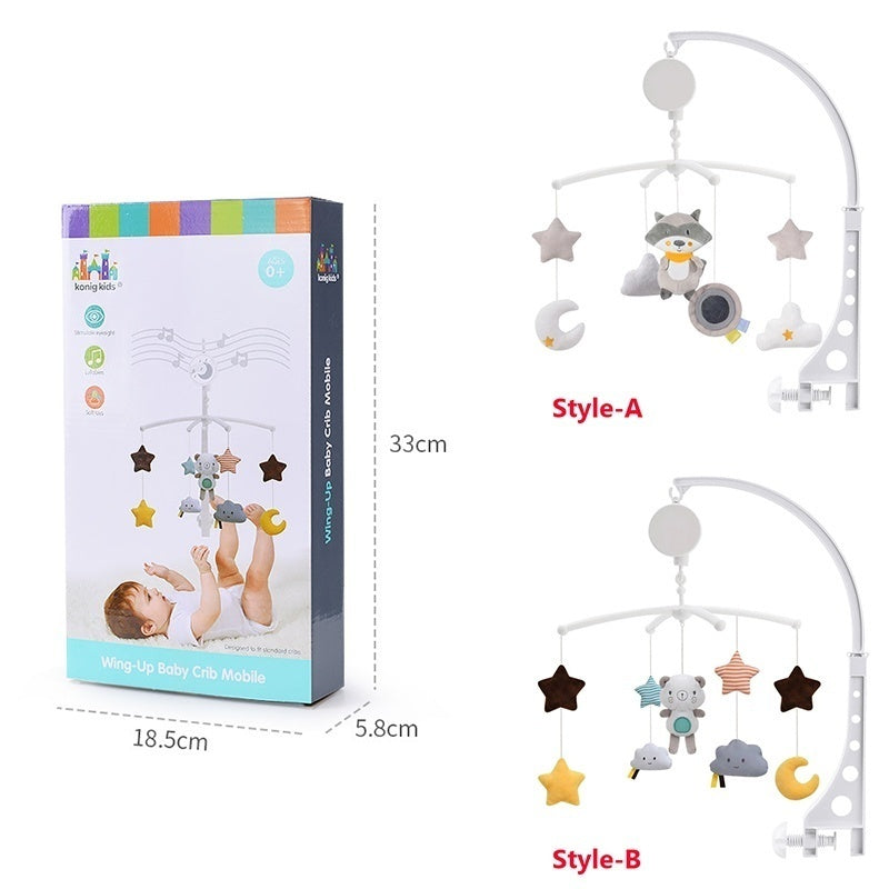 Kids 0-12 Months Boys Girls Bed Bell Newborn Infant Toddler Baby Toys Crib Mobile Musical Box Rattles