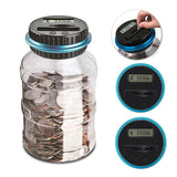 Digital Piggy Bank Electronic Digital Counter Coin Counting Coin Money Saving Box Storage Box Jar For USD EURO GBP Money