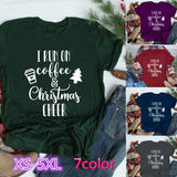 2019 Women Fashion I Run on Coffee and Christmas Cheer Shirt Christmas T Shirt Plus Size