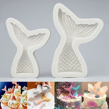 Load image into Gallery viewer, Gray Mermaid Tail Silicone Fondant Cake Mould Decoration Sugarcraft Icing Mold