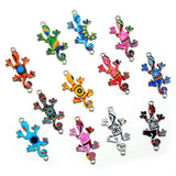 Cute 10 Pcs Mixed Color Gecko Connectors Charm Pendant for DIY Necklace Jewelry Making Christmas Gift