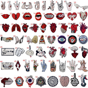 1Pcs DIY Iron on Patches Embroidered Badge Applique Fabric Craft Sewing