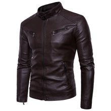 Load image into Gallery viewer, Men Leather Jacket Autumn Winter Fashion  Male Business Casual Coat  Mens  Personality  Jacket Large Size