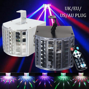 18W 7CH Sound Active DMX Automatic Stage Lighting LED Light Laser RGB Effect Lamp Club Disco Party Bar Lighting AC90-240V