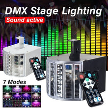 Load image into Gallery viewer, 18W 7CH Sound Active DMX Automatic Stage Lighting LED Light Laser RGB Effect Lamp Club Disco Party Bar Lighting AC90-240V
