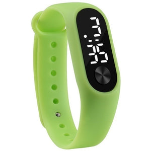 Hot Sale New Fashion 1PCS  LED Digital Watch Luxury White or Red Light Touch Screen Silicone Strap Wristwatch Women Sports Yoga Bracelets Watches Kids Clocks Best Christmas Gift