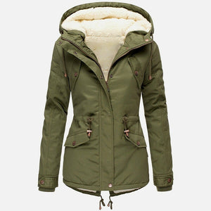 2019 Winter Women's Thickened Leisure Warm Collar Plus Size Solid Color Winter Coat  Cotton Clothes Thickened Snow Cotton Clothes Thickened Cap Necks Essential In Winter