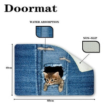 Load image into Gallery viewer, Fashion Kawaii Floor Mats Animal Cute Cat Dog Print Bathroom Kitchen Carpet House Doormats for Living Room Anti-Slip