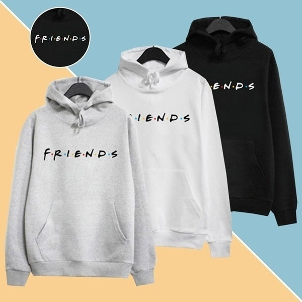 Women's Friends Hoodie Fashion Winter Autumn Print Letter Friends Hooded Casual Long Sleeve Sweatshirt Loose Headband Pocket
