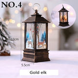 1pcs Christmas New Year Family Decoration Fairy Light Candle White Snowman LED Flame Light