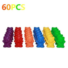 Load image into Gallery viewer, 1Set Counting Bears with Stacking Cups - Montessori Rainbow Matching Game Educational Color Sorting Toys for Toddlers Baby