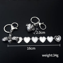 Load image into Gallery viewer, New Creative Angel Wings Love Multilayer Phase Box Keychain Pendant Women's Jewelry