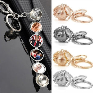 New Creative Angel Wings Love Multilayer Phase Box Keychain Pendant Women's Jewelry