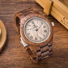 Load image into Gallery viewer, UWOOD Natural Wooden Watch Sandal Quartz Watch Wood Wristwatch for Men Handmade Gift