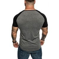 2019 New Basic Wild Men's Casual T-shirt Solid Color O-neck T Shirts Fitness Sports Tops Shirts