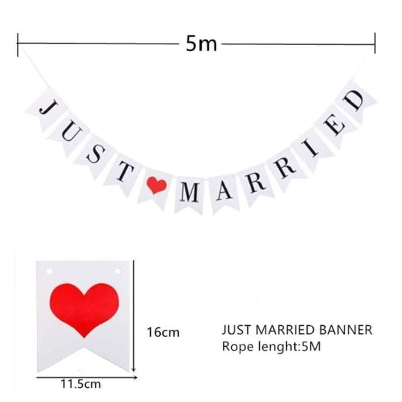 Just Married Banner Mr Mrs Garland Wedding Decoration Bride To Be Just Married Buntings