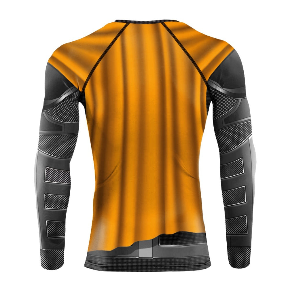 Men Compression T-shirts 3d Printed Sportswear Superhero Batman Halloween Cosplay Bodybuilding Running Tight Quick Drying O-neck Tops Tees