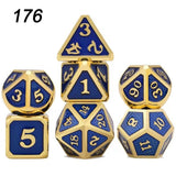 7Pcs/Set Rainbows Metal Dice Set Role Playing Dragons Dice Table Games Polyhedral Dices For Dungeons Dragons Game D4 D6 D8 D10 D12 D20