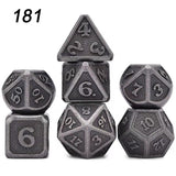 7Pcs/Set Rainbows Metal Role Playing Table Games Polyhedral Dices For Dungeons Dragons Game D4 D6 D8 D10 D12 D20(11 Style)